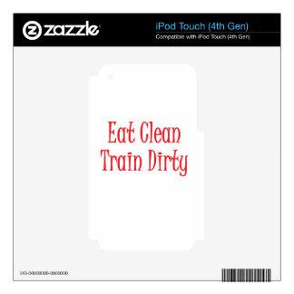 Coma el rojo limpio iPod touch 4G skins