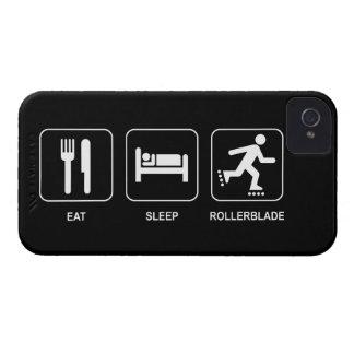 Coma el Rollerblade del sueño iPhone 4 Case-Mate Coberturas