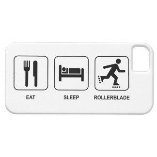 Coma el Rollerblade del sueño iPhone 5 Fundas