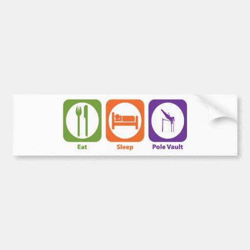 Coma el salto con pértiga del sueño etiqueta de parachoque