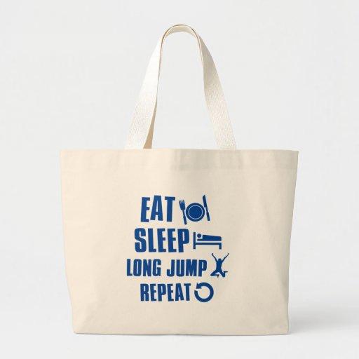 Coma el salto de longitud del sueño bolsa lienzo