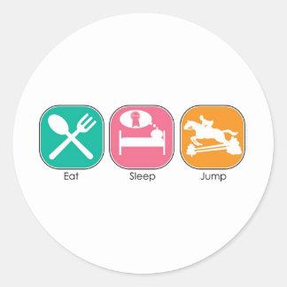 Coma el salto del sueño pegatina redonda