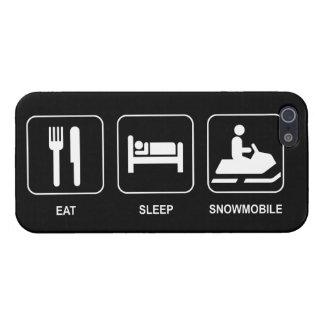 Coma el Snowmobile del sueño iPhone 5 Cárcasa