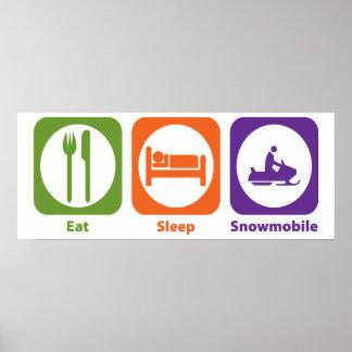 Coma el Snowmobile del sueño Impresiones
