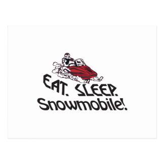 Coma el Snowmobile del sueño Postal