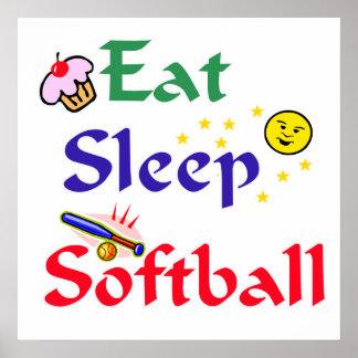 Coma el softball del sueño póster