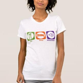 Coma el sonido de registro del sueño camiseta