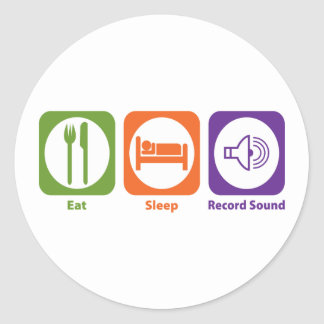 Coma el sonido de registro del sueño pegatina redonda