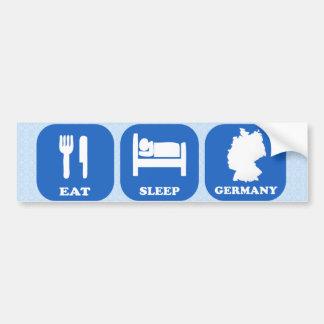 Coma el sueño Alemania Pegatina Para Auto