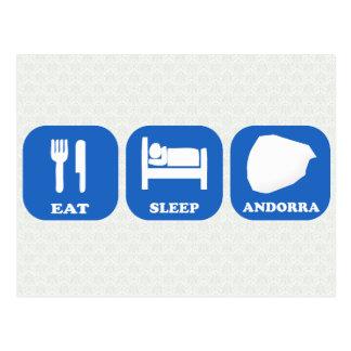 Coma el sueño Andorra Postales