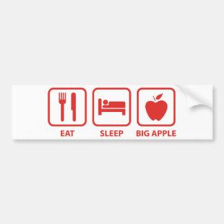 Coma el sueño Apple grande Pegatina De Parachoque