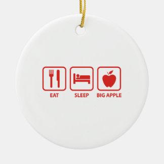 Coma el sueño Apple grande Adorno Redondo De Cerámica