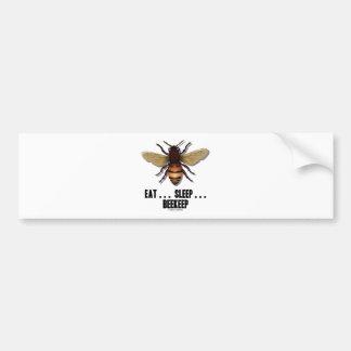 Coma… el sueño… Beekeep la abeja Pegatina De Parachoque