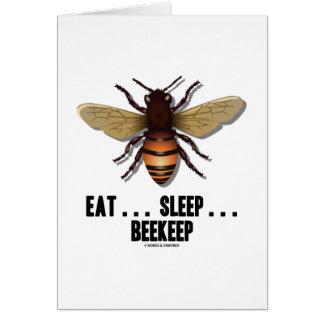Coma… el sueño… Beekeep la abeja Felicitacion
