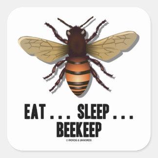 Coma… el sueño… Beekeep (la abeja) Pegatina Cuadradas Personalizadas