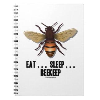Coma… el sueño… Beekeep (la abeja) Spiral Notebook