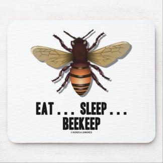 Coma… el sueño… Beekeep la abeja Tapete De Ratón