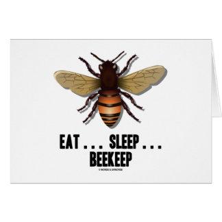 Coma… el sueño… Beekeep la abeja Tarjetón