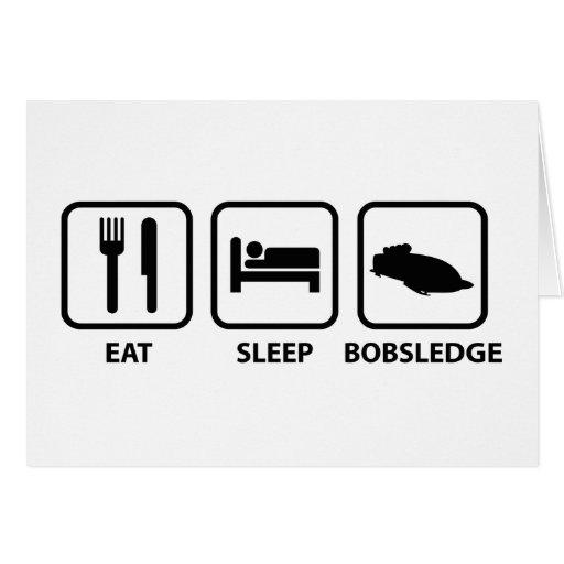 Coma el sueño Bobsledge Tarjeta