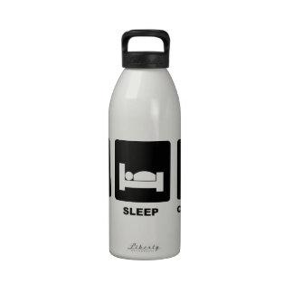 Coma el sueño calculan botella de agua reutilizable