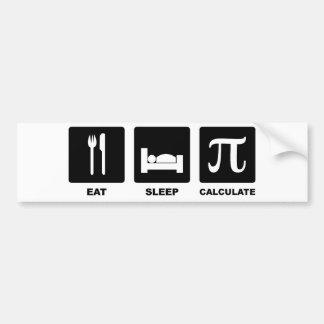 Coma el sueño calculan pegatina de parachoque