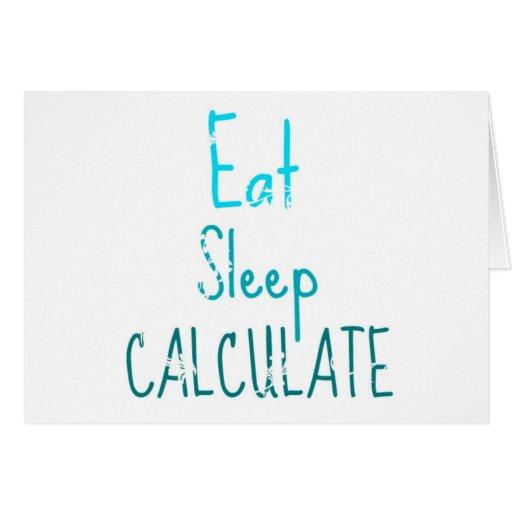 Coma el sueño calculan tarjeta de felicitación