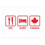 Coma el sueño Canadá Postal