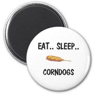 Coma el sueño CORNDOGS Imán Redondo 5 Cm