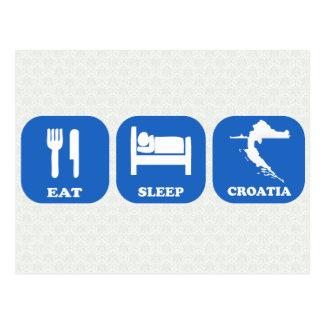 Coma el sueño Croacia Tarjetas Postales