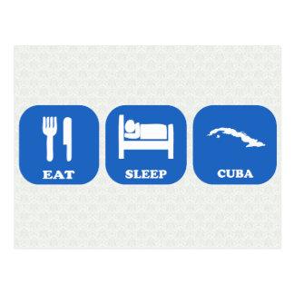 Coma el sueño Cuba Tarjetas Postales