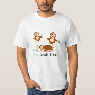 Coma el sueño de la bebida playeras