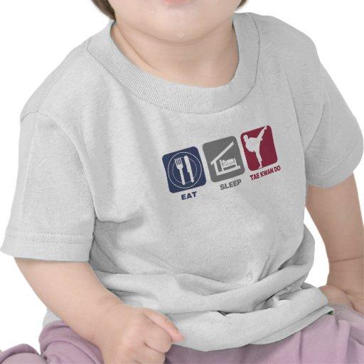Coma el sueño el Taekwondo - chica Camiseta