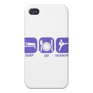 coma el sueño el Taekwondo iPhone 4/4S Fundas