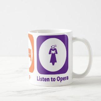 Coma el sueño escuchan la ópera taza clásica