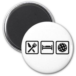 Coma el sueño Floorball Imán Redondo 5 Cm