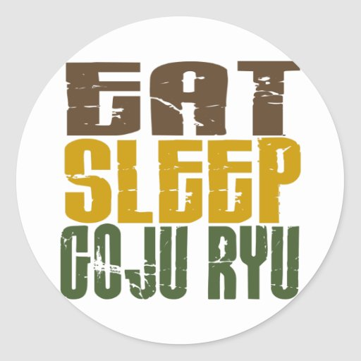 Coma el sueño Goju Ryu 1 Etiqueta Redonda