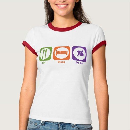 Coma el sueño hacen arte tee shirts