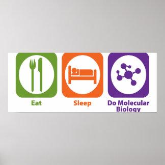 Coma el sueño hacen biología molecular impresiones