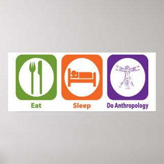 Coma el sueño hacen la antropología impresiones