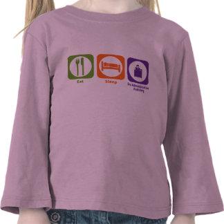 Coma el sueño hacen la ayuda administrativa camiseta