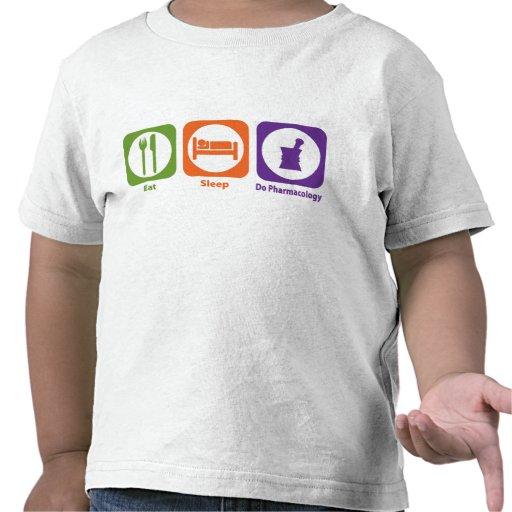 Coma el sueño hacen la farmacología camisetas