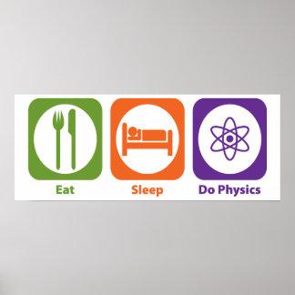 Coma el sueño hacen la física impresiones