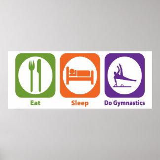 Coma el sueño hacen la gimnasia poster