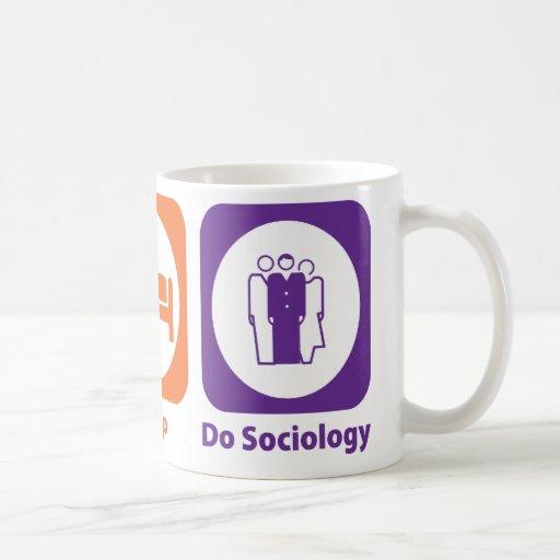 Coma el sueño hacen la sociología taza básica blanca