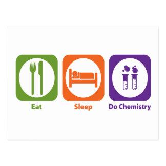 Coma el sueño hacen química postales