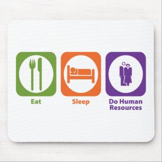 Coma el sueño hacen recursos humanos mousepad