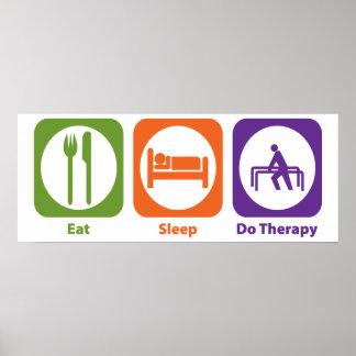 Coma el sueño hacen terapia poster