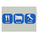 Coma el sueño Italia Felicitación