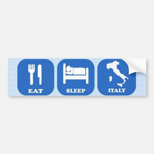 Coma el sueño Italia Pegatina De Parachoque