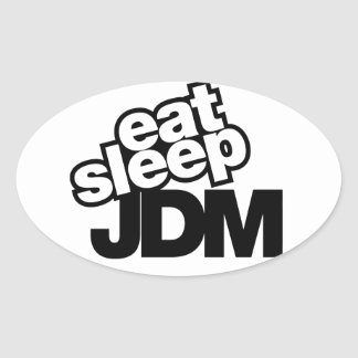 coma el sueño JDM Calcomanía Ovalada